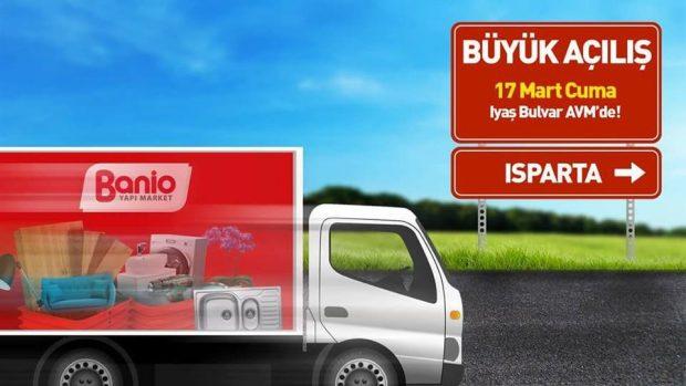 BANİO Yapı Market Isparta Şubesinin açılışına tüm üyelerimiz davetlidir.